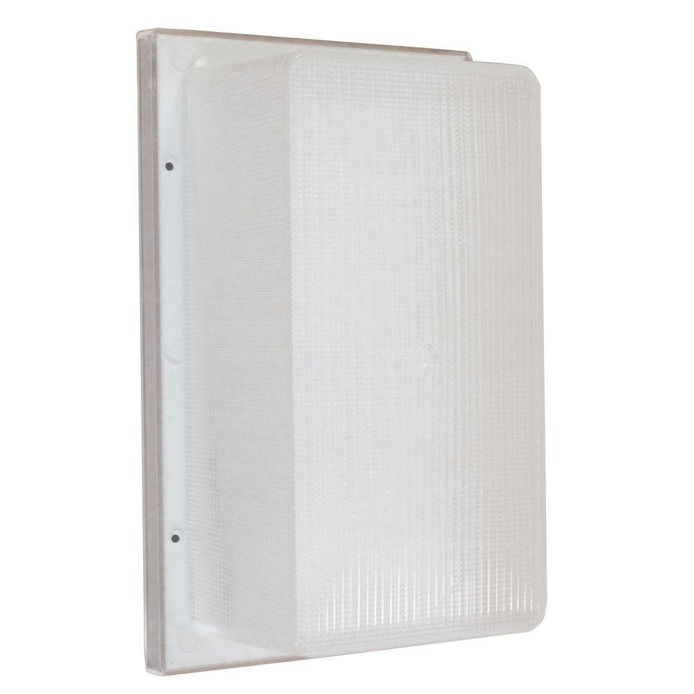Aspects Multi-Use Flush Mount 1-Light Outdoor White Fluorescent Wall Pack Fixture