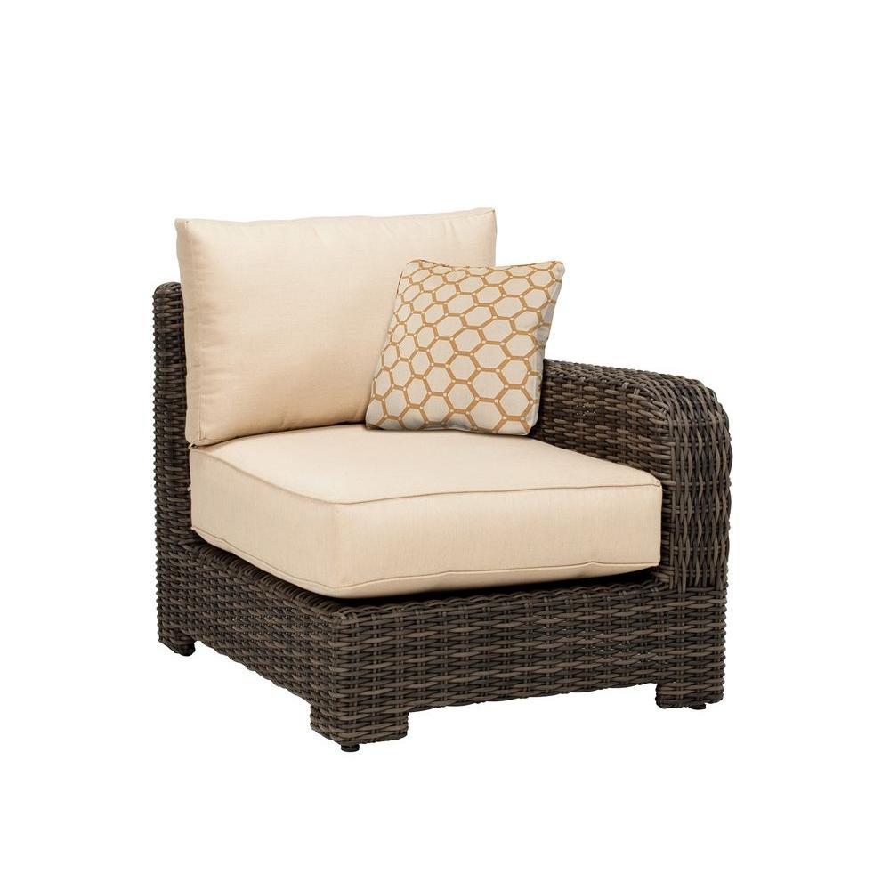 Brown jordan northshore right arm patio sectional chair for Brown jordan lawn furniture