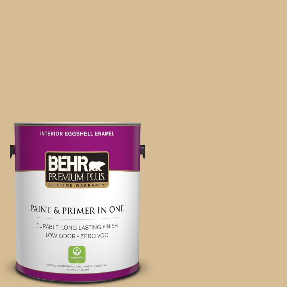 BEHR Premium Plus 1-gal. #330F-4 Pebble Path Zero VOC Eggshell Enamel Interior Paint