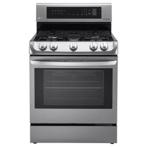 Click here to buy LG Electronics 6.3 cu. ft. Gas Range with ProBake Convection Oven in Stainless Steel by LG Electronics.