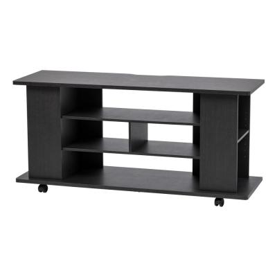 50 in. Black TV Stand with Wheels For TV's Up