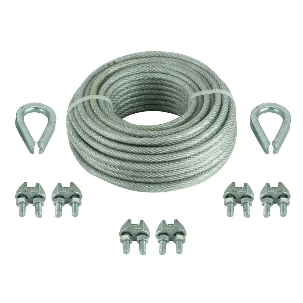 Wire Rope Chains Ropes The Home Depot Household Wiring Cable Size Vinyl Coated Kit