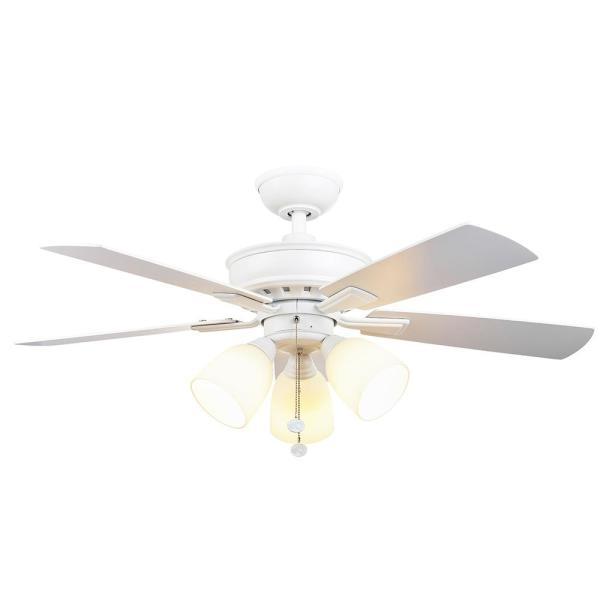 Vaurgas 44 in. LED Matte White Ceiling Fan