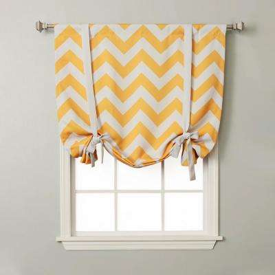 Chevron 42 in. W X 63 in. L Drapery Panel in Yellow