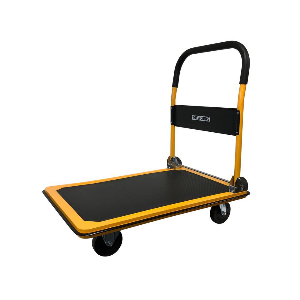 Deals on TheWorks 660 lbs. Capacity Heavy-Duty Folding Platform Cart