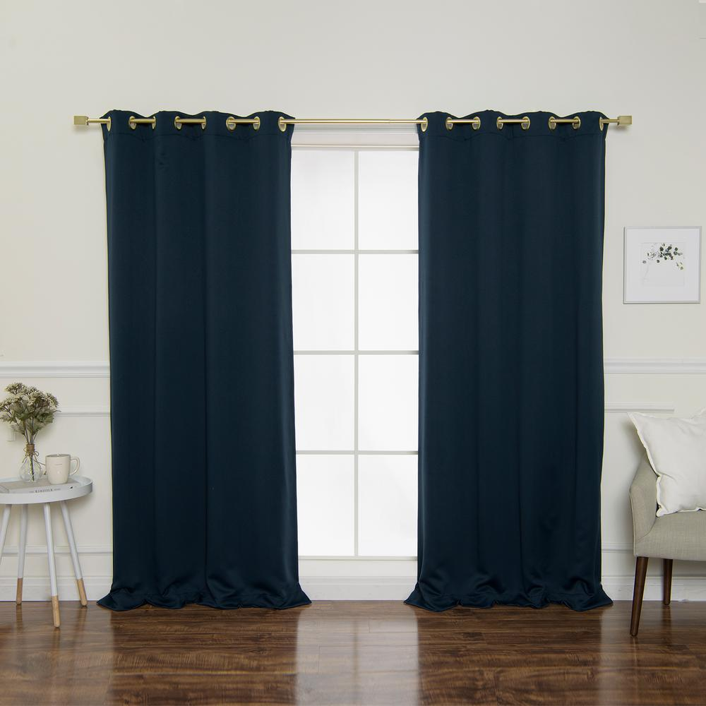 L Triple Weave Blackout Curtain Panel In Navy 2