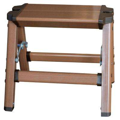 1-Step Aluminum Step Stool with 225 lbs. Load Capacity Type II Duty Rating