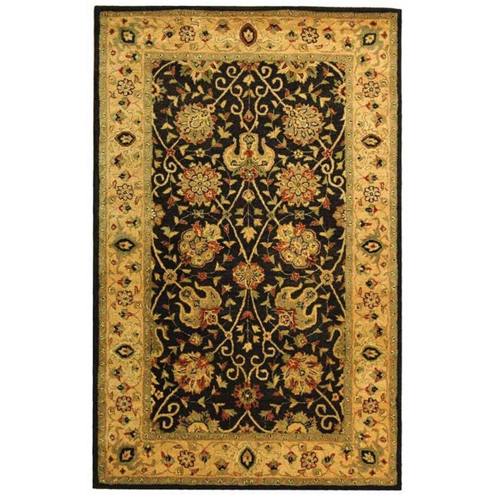 Antiquity Black 4 ft. x 6 ft. Area Rug