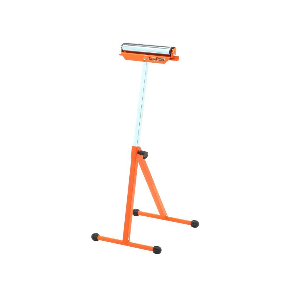 PORTAMATE 18 in. Adjustable Ball Bearing Pedestal Roller Stand with Roller Balls and Stationery Support (2-Pack)