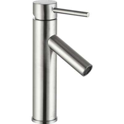 Valle Single Hole Single-Handle Bathroom Faucet in Brushed Nickel