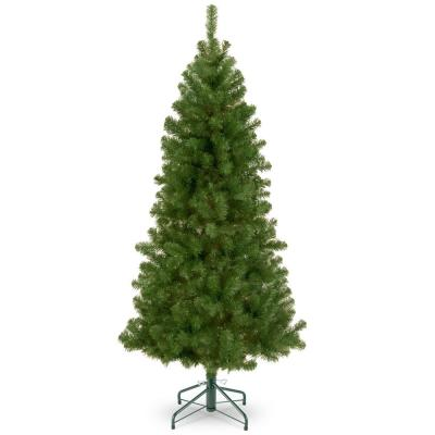 7 ft. Canadian Fir Grande Hinged Tree in Metal Stand