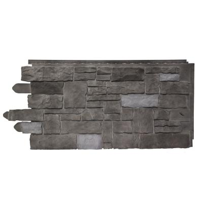 20.25 in. W x 45 in. Artisan Cut Polymer Stone Panel in Ash