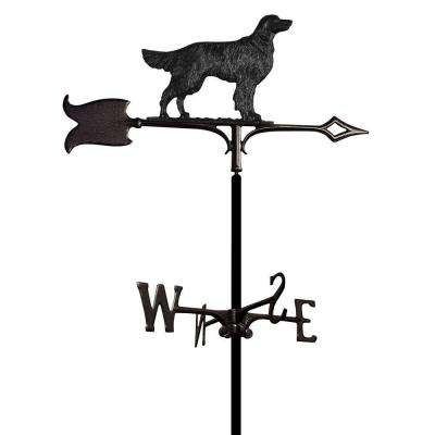 Black Garden Golden Retriever Weathervane