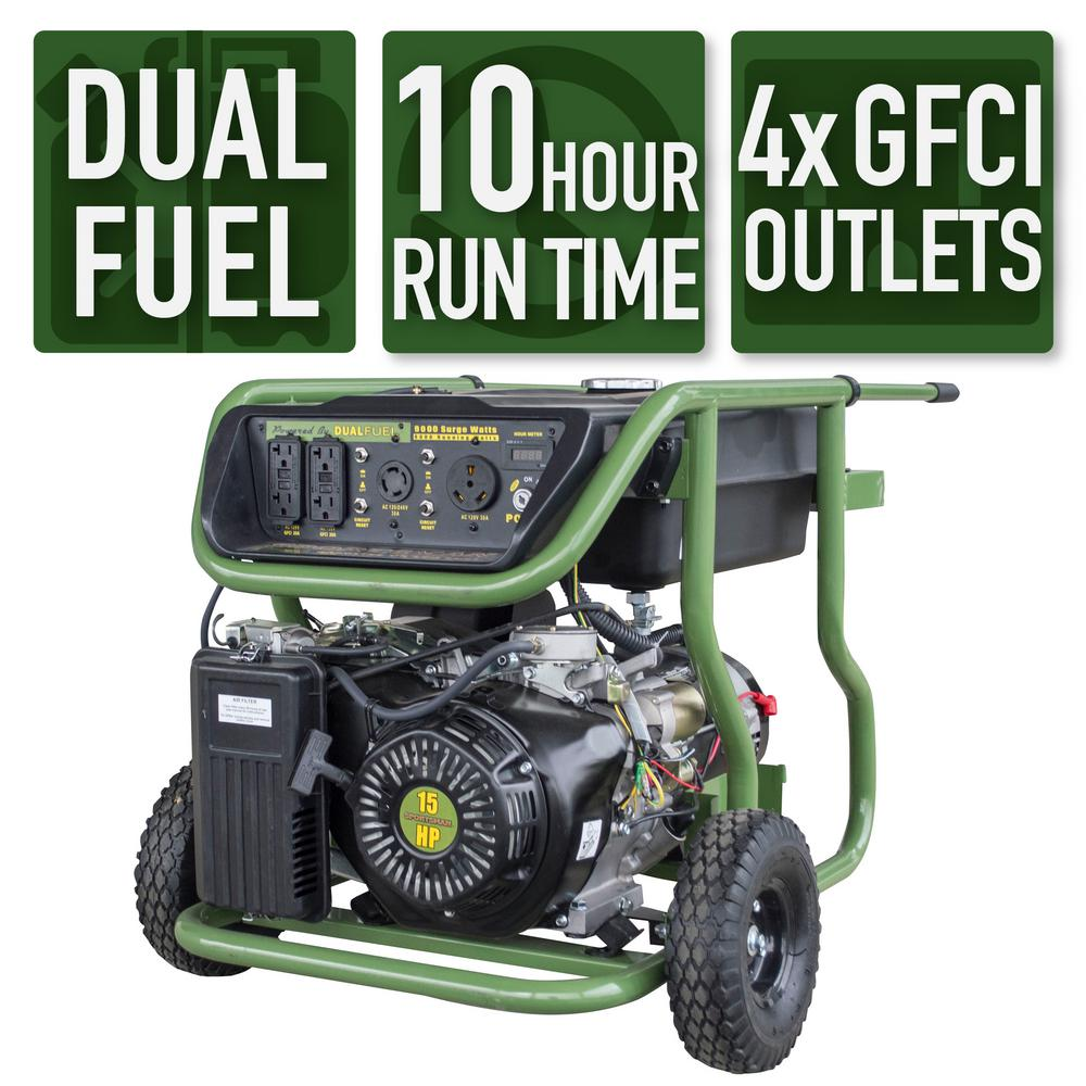 Sportsman 9,000/8,000-Watt Dual Fuel Powered Electric Start Portable  Generator