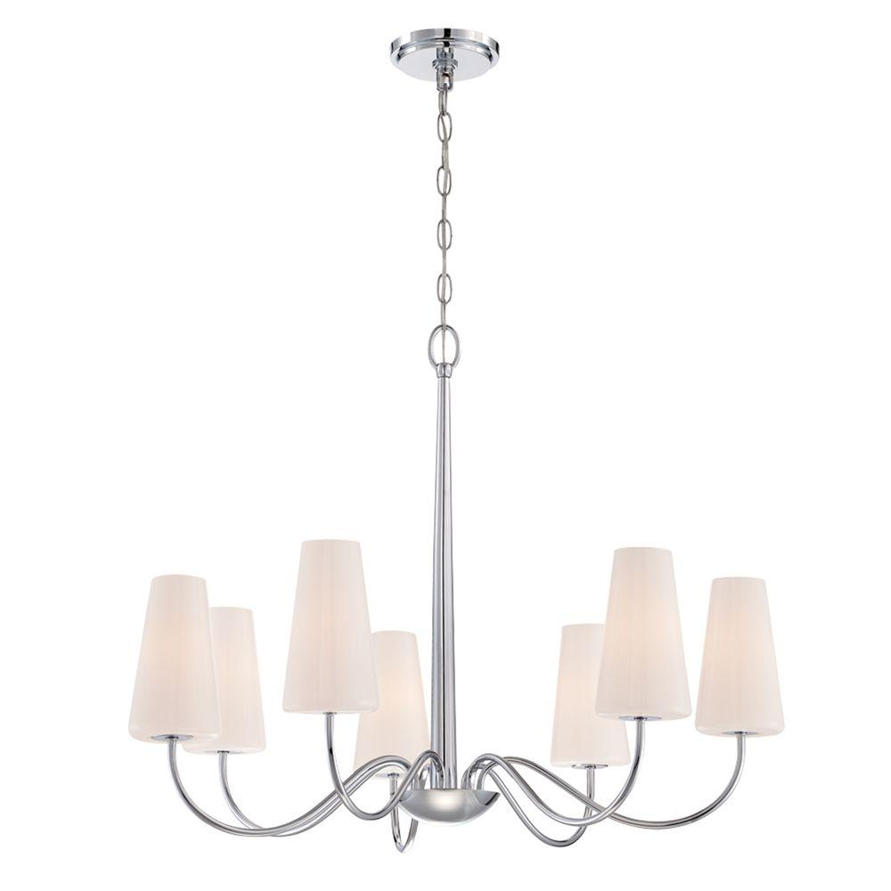 eurofase enza collection 7 light chrome chandelier 27969 014 the