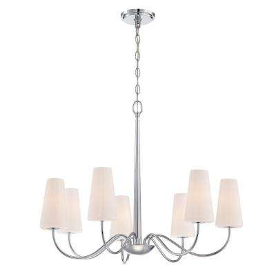 Enza Collection 7-Light Chrome Chandelier