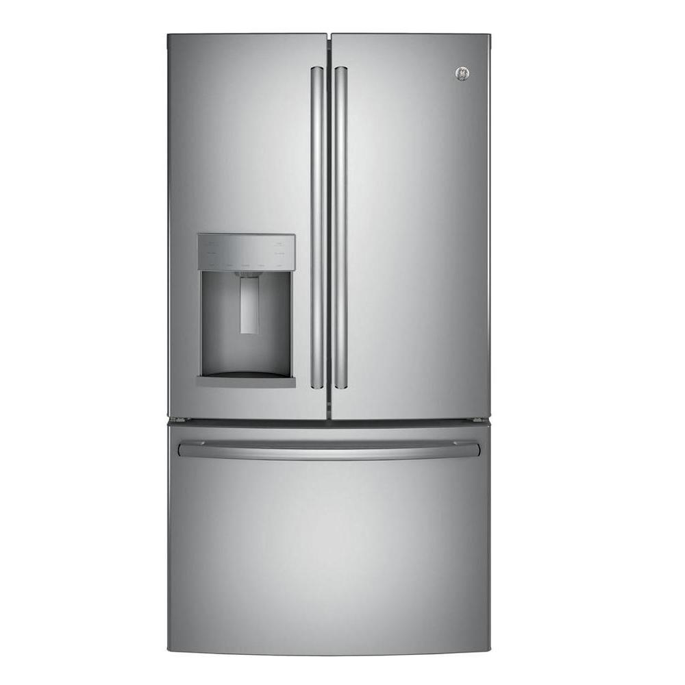 Delicieux GE 36 In. W 27.8 Cu. Ft. French Door Refrigerator In Stainless Steel