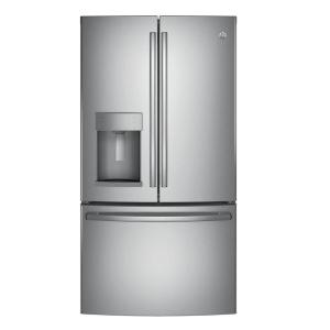 Click here to buy GE 36 inch W 27.8 cu. ft. French Door Refrigerator in Stainless Steel by GE.