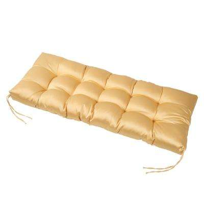 Yellow Rectangular Outdoor Bench Cushion