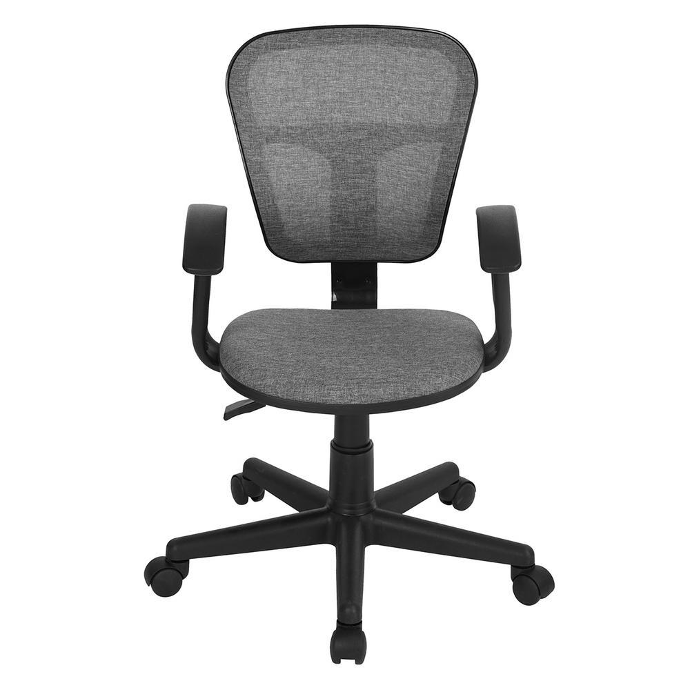 Flying Grey Mesh Fabric Armrest Ergonomic Desk Chair
