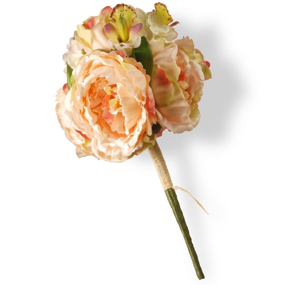 National Tree Company Light Pink Dalia, Hydrangea and Rose Bundle RAS-XY0006-1