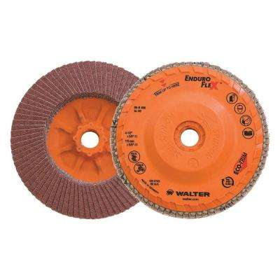 ENDURO-FLEX 4.5 in. x 5/8-11 in. Arbor GR60 The Longest Life Flap Disc (10-Pack)