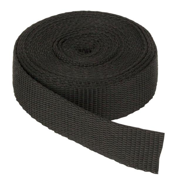 2 in. x 150 ft. Webbing Strap, Black