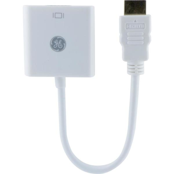 HDMI to VGA Cable Adapter for Windows PC and Mac, White