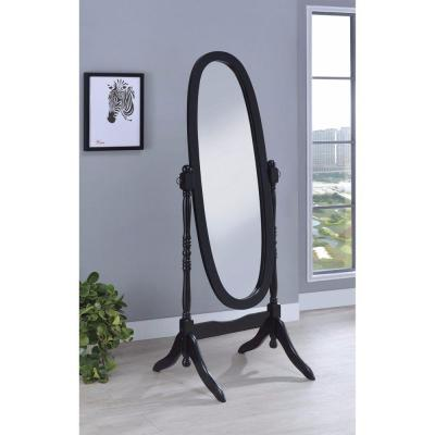 Large Black Wood Modern Mirror (59 in. H X 23 in. W)