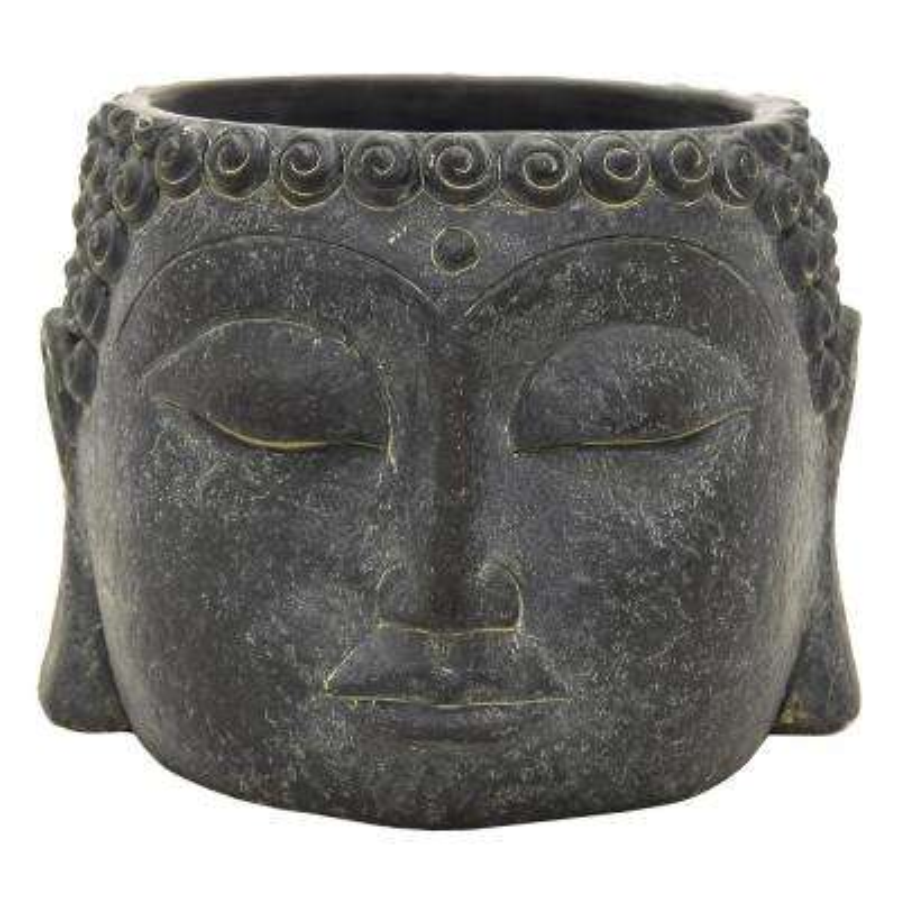 5.5 in. Buddha Face Flower Pot