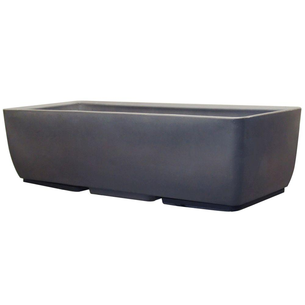 RTS Home Accents 36 in. x 15 in. Graphite Planter