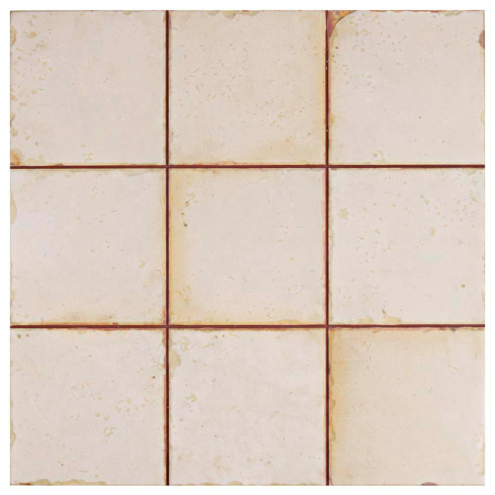 Mirambel Blanco 13 in. x 13 in. Ceramic Floor and Wall