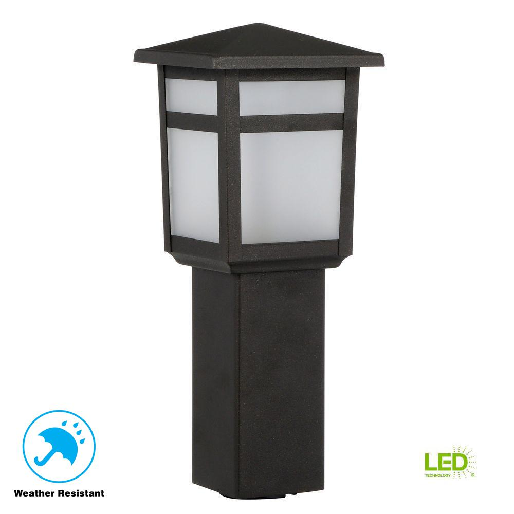 Hampton Bay Low Voltage 10 Watt Equivalent Black Outdoor Integrated