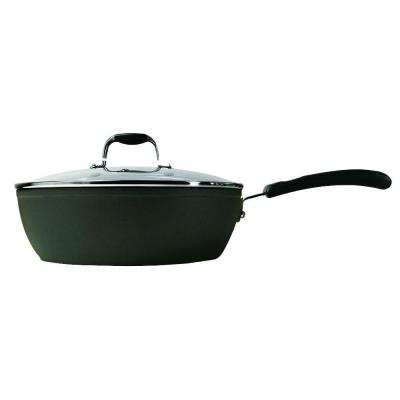 Symphony 4 qt. Aluminum Nonstick Saute Pan in Slate with Glass Lid