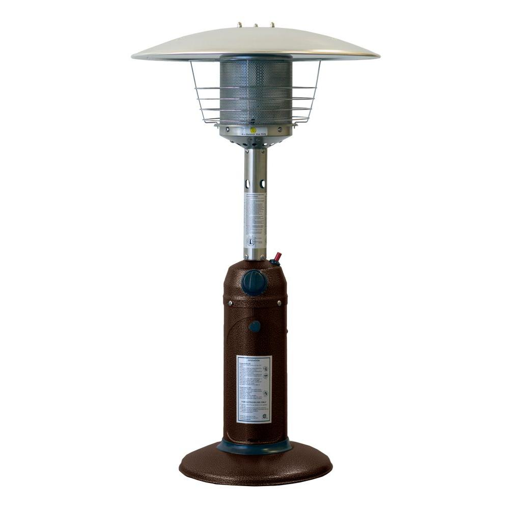 Charmant Hampton Bay 11,000 BTU Powder Coated Bronze Tabletop Propane Patio Heater HPS C PC    The Home Depot