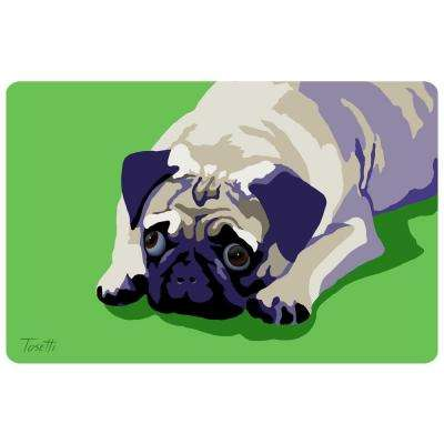 Printed Pug 8 17.5 in. x 26.5 in. Mat