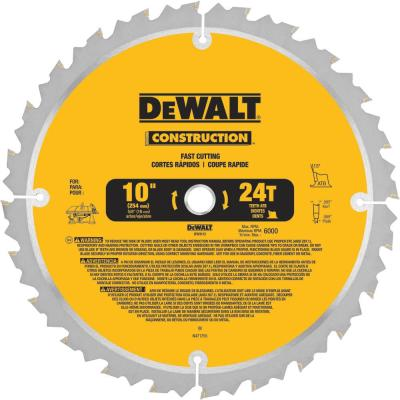 Construction 10 in. 24-Teeth Thin Kerf Table Saw Blade