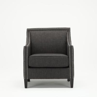 Taslo Charcoal Polyester Accent Chair