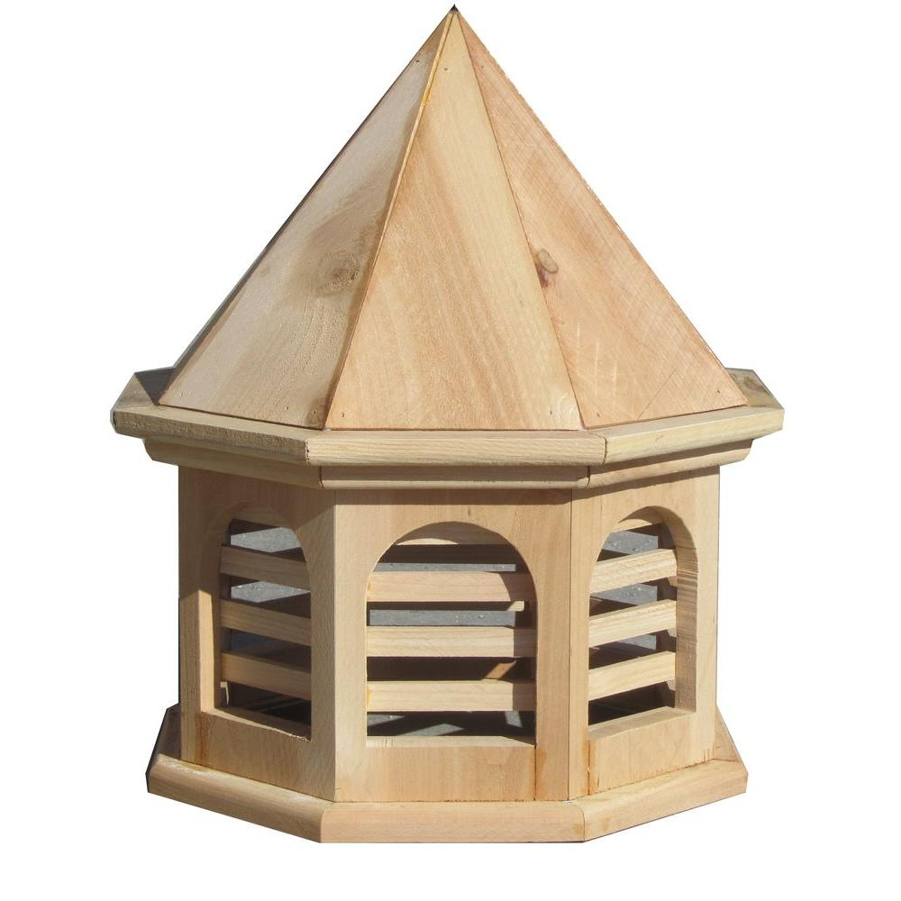 SamsGazebos 15 in. x 15 in. x 18 in. Wood English Cottage Garden Style Octagon Cupola
