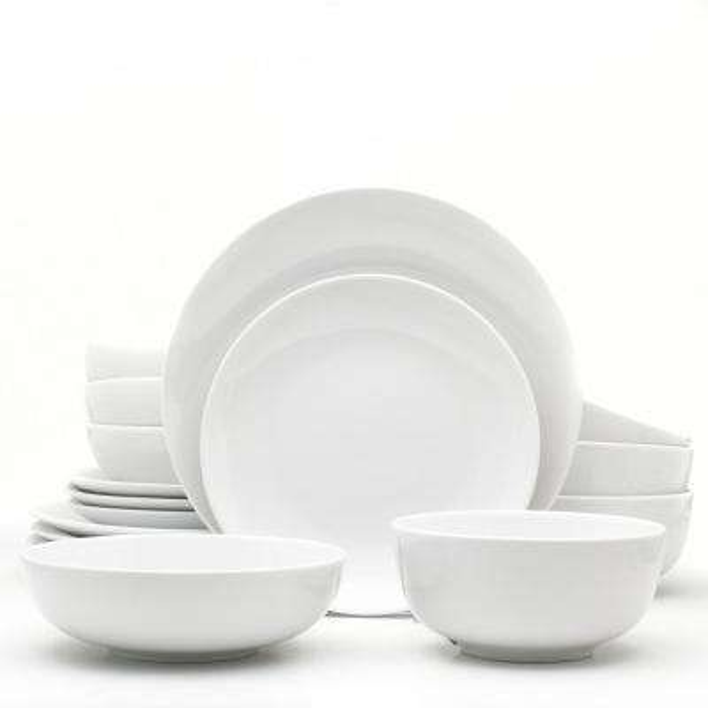 Essential 16-Piece White Dinnerware Set