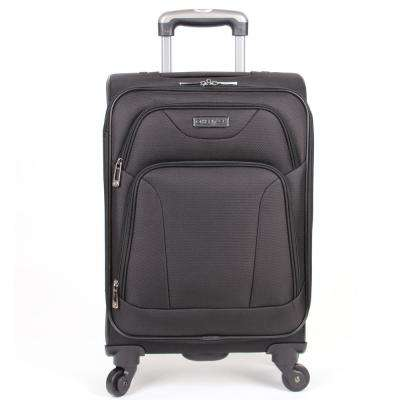 """""""Wicker Park"""" Collection Lightweight Durable Softside 600D Polyester 4-Wheel Expandable 20 in. Carry-On Luggage"""