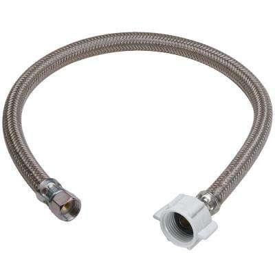 7/16 in. Compression x 7/8 in. Ballcock Nut x 12 in. Braided Polymer Toilet Connector