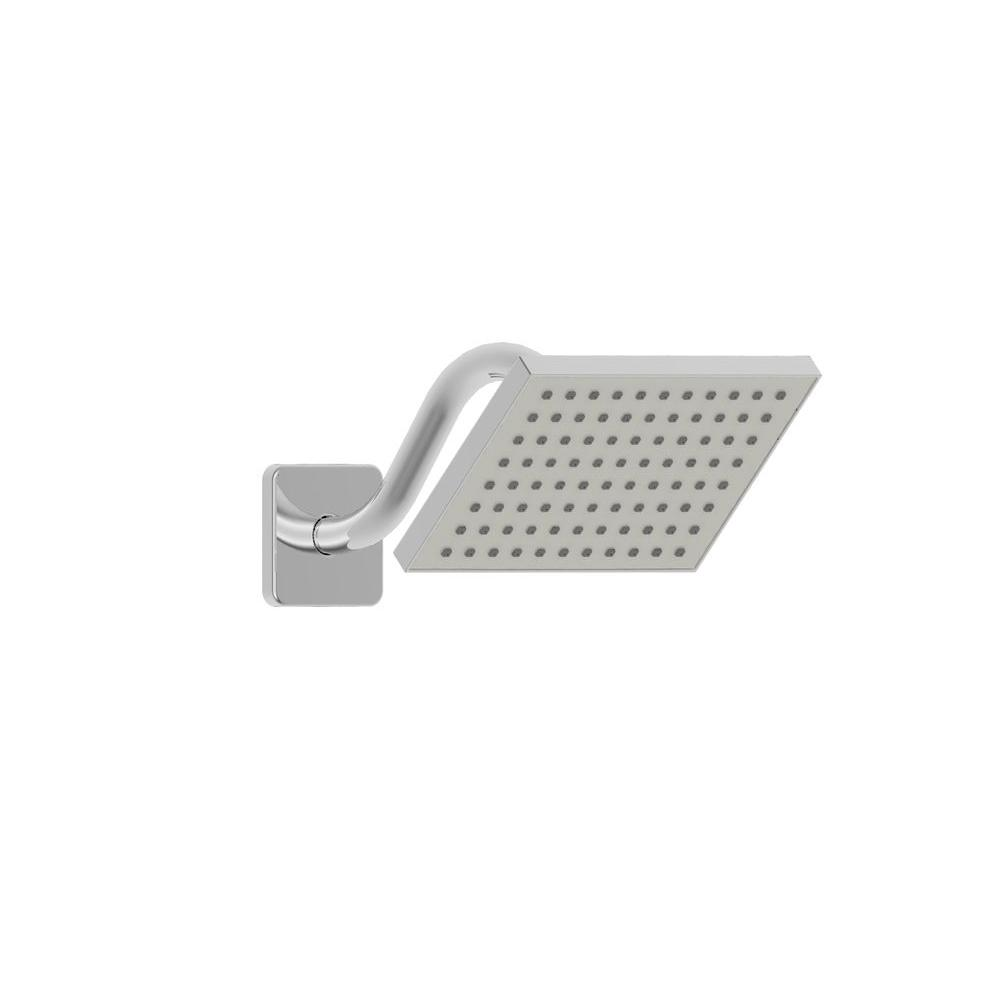 Glacier Bay 1-Spray 8 in. Rectangular Engine-Powered Raincan Showerhead in Chrome