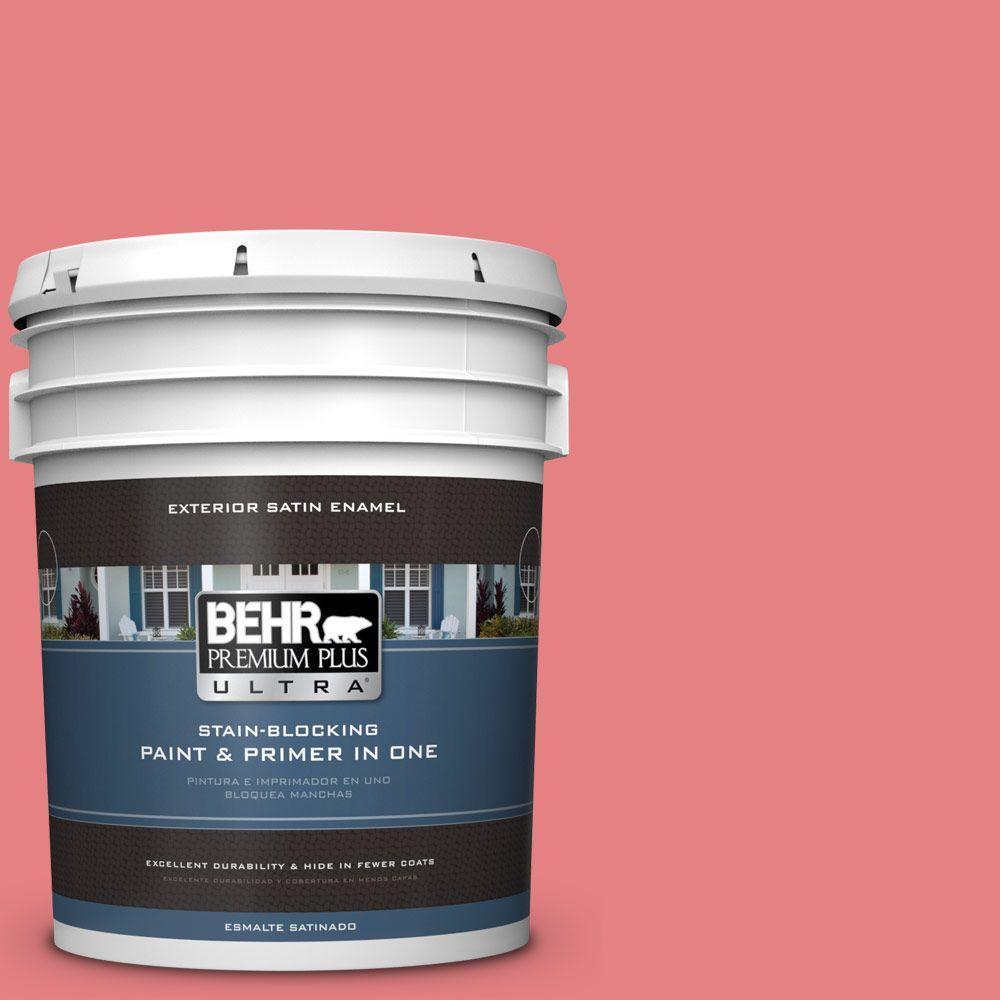 BEHR Premium Plus Ultra 5-gal. #P170-4 Sugar Poppy Satin Enamel Exterior Paint
