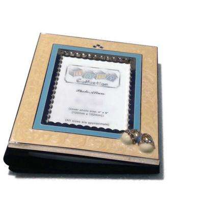 Booties 4 in. x 6 in. Boy Blue Color Picture Frame
