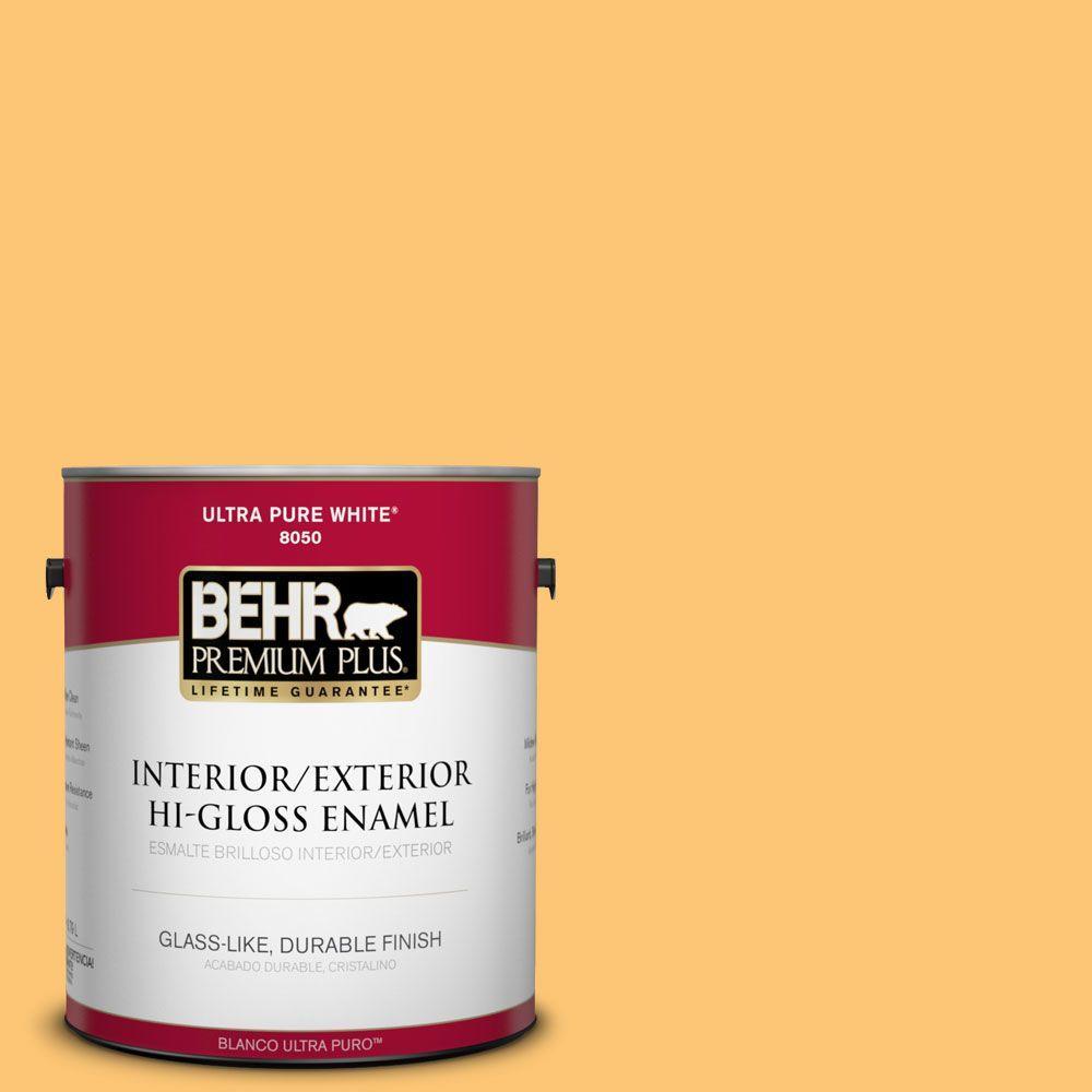 1-gal. #BIC-42 Liquid Gold Hi-Gloss Enamel Interior/Exterior Paint