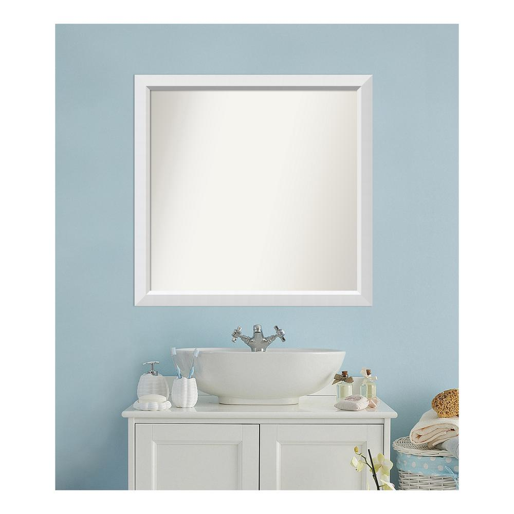 Amanti Art 35 in. x 36 in. Blanco White Wood Framed Mirror was $479.71 now $239.85 (50.0% off)