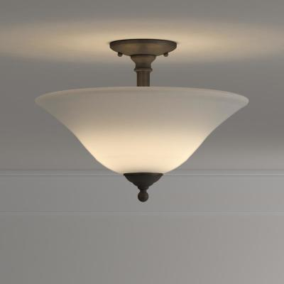Riva 3-Light Painted Bronze Ceiling Semi-Flush Mount Light