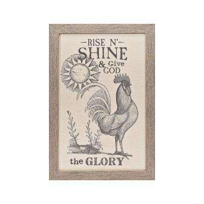 "Homespun Faith ""Rise N' Shine"" by Carpentree Printed Framed Natural Canvas Wall Art"