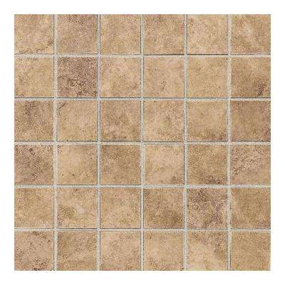 Carano Golden Sand 12 in. x 12 in. x 8 mm Ceramic Mosaic Floor and Wall Tile (1 sq. ft. / piece)